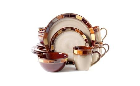 Gibson Casa Estebana 16-piece Dinnerware Set Service for 4 photo