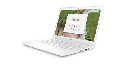 HP 14-ca051wm Chromebook Intel Celeron N3350 Processor 4GB SDRAM 32GB eMMC Was: $299.99 Now: $199.99.