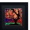 Roderick Stevens 'Fall Red Tree' Matted Black Framed Art