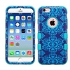 Insten Tuff Damask Hard Hybrid Silicone Case For Iphone 6 6s Blue