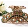 elegant  Austrian Crystal Gold Metal Tone hair claws clip