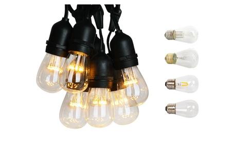 37.5 Ft 25 Socket LED Outdoor Patio Heavy Duty Globe String Lights S14 c7975030-01e3-4a39-9f32-28df96a2ce85