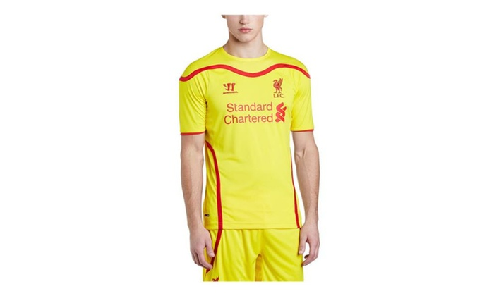 47c0c5922 Warrior Liverpool Away Short Sleeve Yellow Jersey