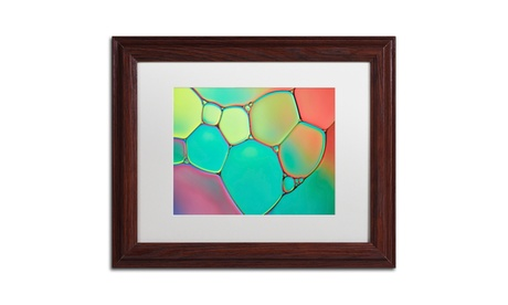 Cora Niele 'Stained Glass III' Matted Wood Framed Art cb7601ed-8ebd-4eac-95d4-e2c43cf6d6c8