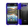 Insten Black+blue Hybrid Hard Case For Lg Optimus Zone 2 Fuel