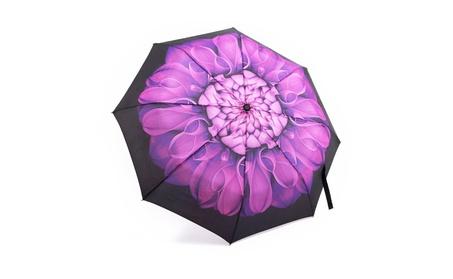Purple Lightweight Windproof Automatic Compact Rain Travel Umbrella 14a3a00d-32dc-4f5e-9f97-65d790aaa259