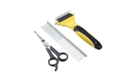 Pet Dog Hair Fur Grooming Rake Scissor Dematting Comb Brush Mats Knots 7436641a-a16e-4ec4-9a61-bb3cb9cd6d76
