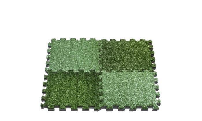 interlocking grass deck tiles artificial anti wear turf. Black Bedroom Furniture Sets. Home Design Ideas