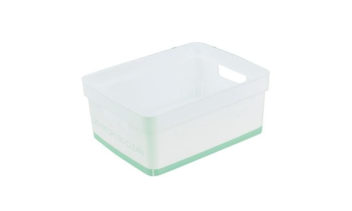 Simplify small lather up bathroom storage bin in spa for Blue bathroom bin