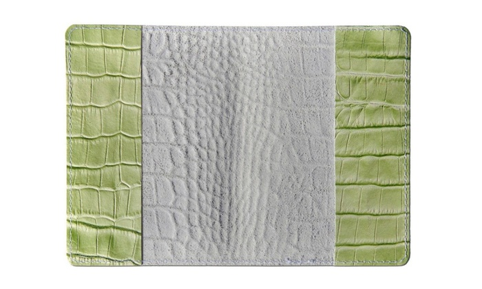 Light Green 023 Leather Passport Cover
