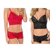 Oshein Solid Lace Sweet Cami Set