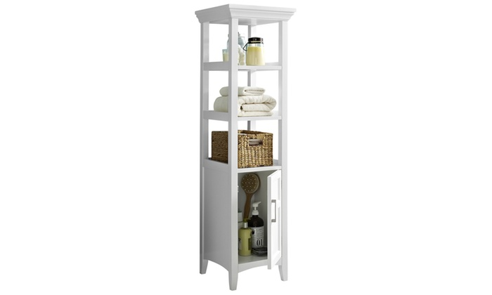 ... Groupon Goods: Avington 15.75 X 15.75 X 56.25 Inch Bath Storage Tower  In White