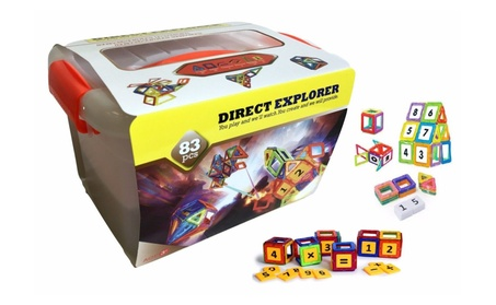 Magnetic toy 83 Pieces Magnetic Blocks and Tiles Construction d06e5e98-d502-44ad-a6e3-13dad21d3996