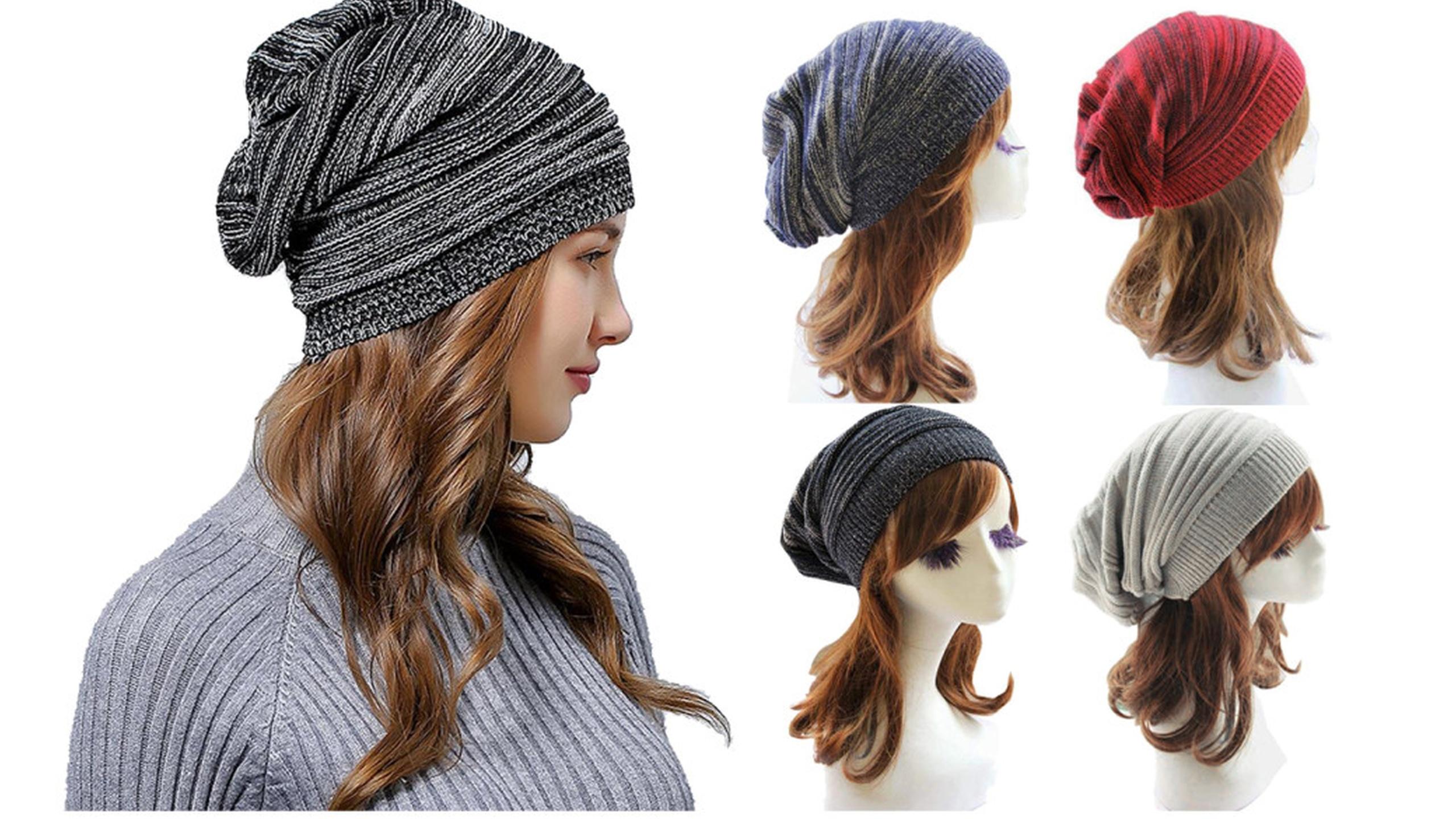 5e0ec3130c0 Unisex Women Oversized Beanie Hat Baggy Slouchy Warm Winter Ski Cap ...