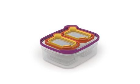 Joseph Joseph 40069 Nest Storage Plastic Food Storage Containers Set with Lids