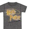 Disney Mens  T Shirt Harry Potter Logo Wand Gray