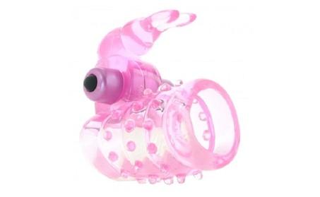 Basic Essentials Stretchy Vibrating Bunny Enhancer, Pink c45db6f0-1511-48ca-9c43-d7146d69336c