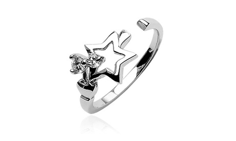 .925 Sterling Silver Star With Cubic Zirconia Toe Ring (Sold Ind.) e5cc1fac-d28a-42e6-92b5-5226b6fc3f75
