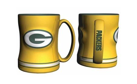 Green Bay Packers Coffee Mug - 14oz Sculpted Relief - Yellow 46a23354-8de9-4ed0-9705-7960e09ea67e