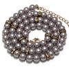Multilayer Simulated Round Pearl Long Necklace for Women