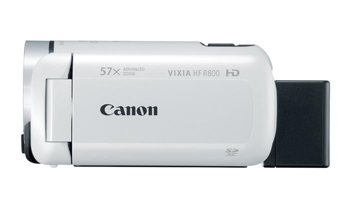 66c127de4d9 Canon VIXIA HF R800 Camcorder (White) | Groupon