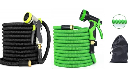Upgraded Design Premium Expandable Garden Hose with Brass Connector Was: $39.99 Now: $19.99.