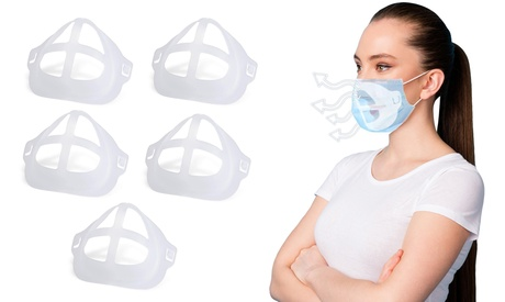 3D Internal Support Face Mask Bracket For Comfortable Breathing (5 or 10-Pack)