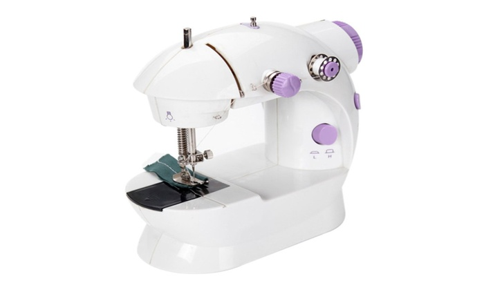 Mini Size Portable Sewing Machine Comes With Thread Loop Groupon Stunning Portable Sewing Machine