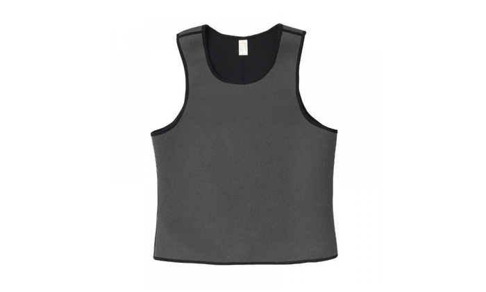 e5866a2561a Grey Men Slimming Vest Body Shaper Belly Wrap Abdomen Weight Loss ...