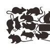 15 Pcs Mouse hole wall stickers