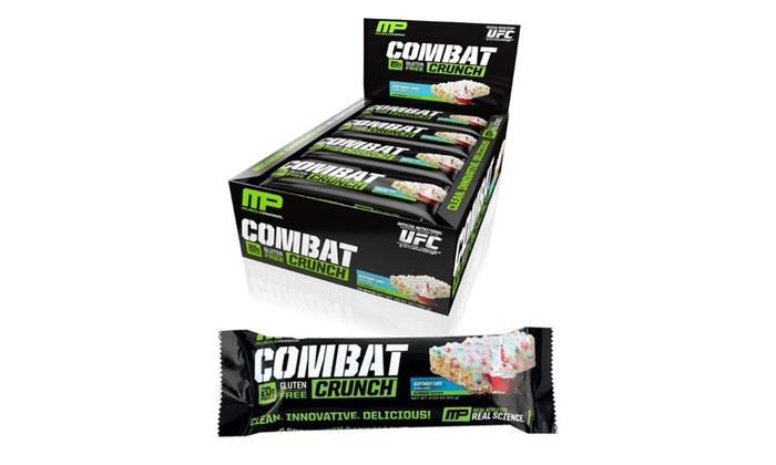 MusclePharm Combat Crunch Birthday Cake 12pk 20g Protein Bar