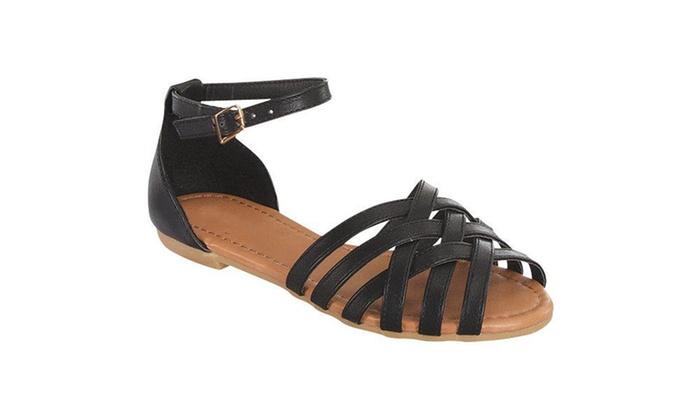 Ankle Strap Flat Woven Front Huarache Sandals SH0009