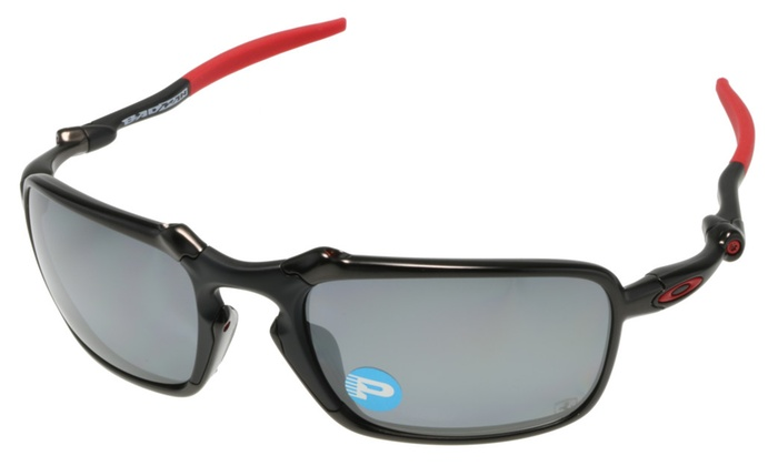 67fd1b873fd Oakley BADMAN Sunglasses OO6020-07 Carbon w  Black Iridium Polarized ...