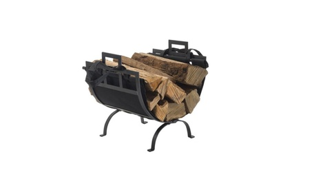 Log Holder with Canvas Tote Carrier 52501548-2097-4b1b-9692-e2bcbc0b6683