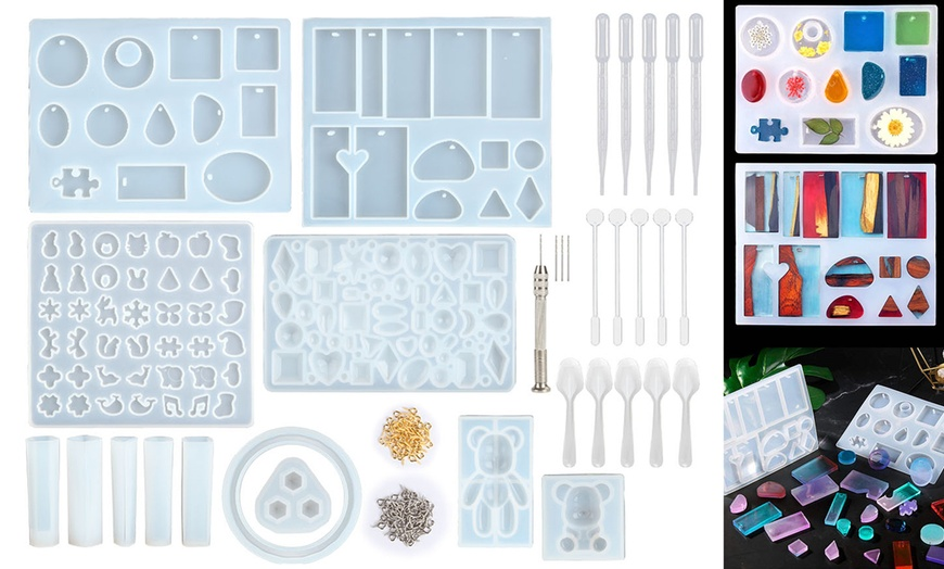Resin Casting Silicone Molds Epoxy Spoon Kit Jewelry Making Pendant Craft DIY