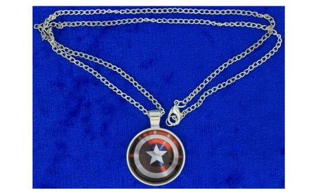 Captain America Shield Necklace or Keychain Cabochon Movie Inspired 73f3a4d3-00e6-4314-a6ab-46b4d0961cc9