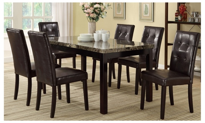 Mersin 7 Pieces Luxury Dining Set