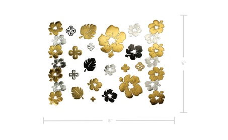 75+ Large Flowers & Rose Temporary Tattoos Black Gold Silver Red Lola 2cc57746-66af-4a23-8147-6e47dff3c1c4