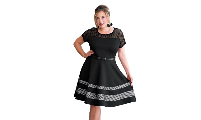 f547193888d Up To 79% Off on Women Black Dotted Mesh Inser...
