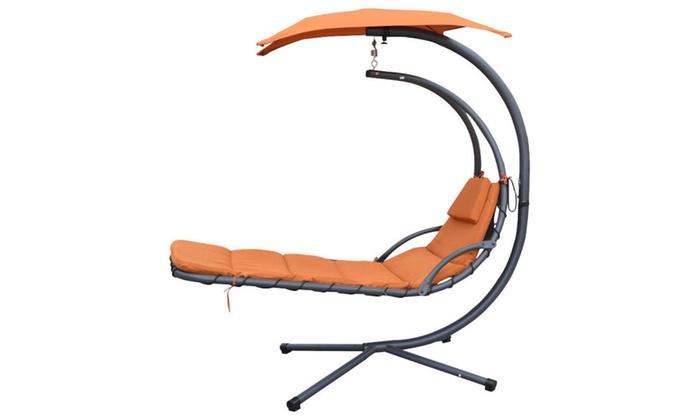 Barkaah: Hanging Chaise Lounger Chair Arc Stand Air Porch Swing Hammock  Chair ...
