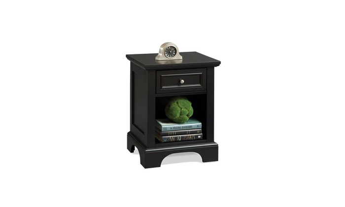 Up To 37 Off On Bedford Black Night Stand Groupon Goods
