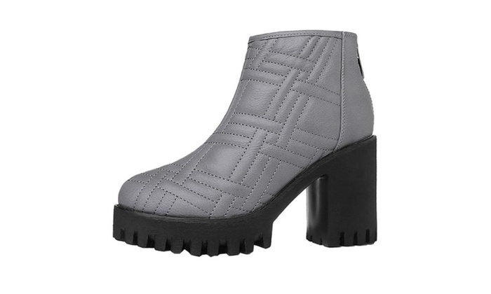 Women's Casual Zip Stitched Martin Boots
