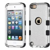 Insten Tuff Hybrid Case For iPod Touch 6 6th Gen 5 5th Gen Silver