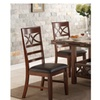 Set of 2, Unique Framed Modern Dark Brown Dining Chairs