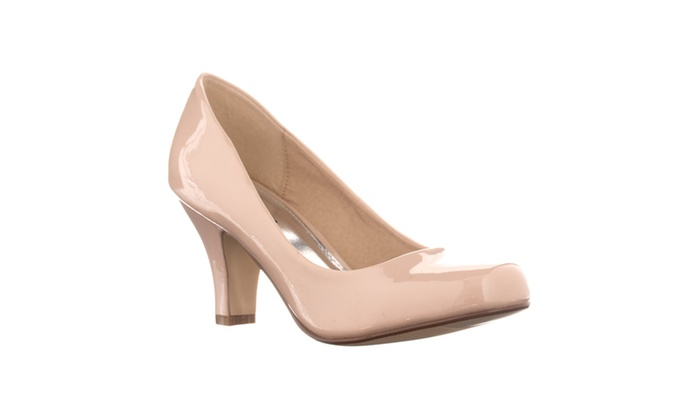 Riverberry Women's 'Ultra' Patent Mid-Heel Pumps, Nude