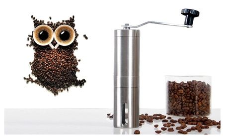 Ceramic Burr Manual Coffee Grinder Portable Hand Crank Stainless Mill 7b3951bc-a167-4d24-a888-b83552f08154