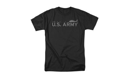 Lutao U.S. Army Men's Helicopter T-shirt Black 1b8a0f5a-71b8-4283-be40-93cc9e09f72d