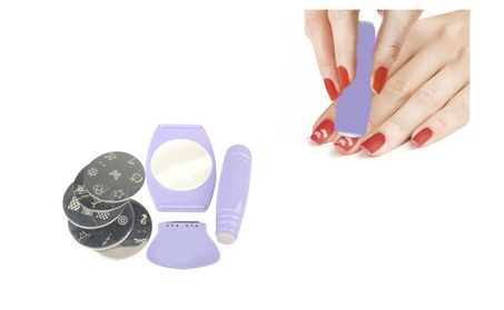 Professional Nail Art Stencil Stamping Kit Set for Home and Salon b8b4bfc0-4f52-4907-8e43-6bf62cc8e1f8