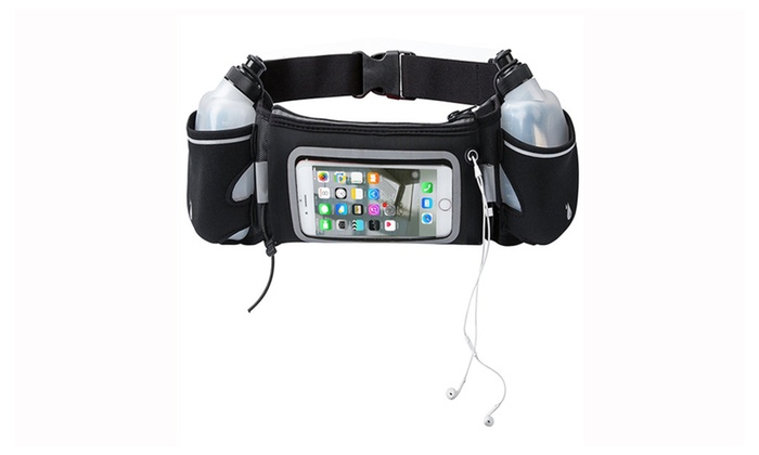Touchscreen Hydration Running Belt With BPA Free Water Bottles