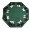"""Costway 48"""" Green Octagon 8 Player Fold Poker Table Top Carrying Case"""